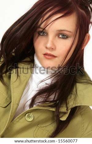 A woman with a warm jacket on
