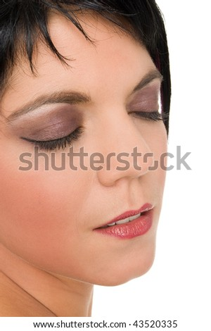A woman with make up