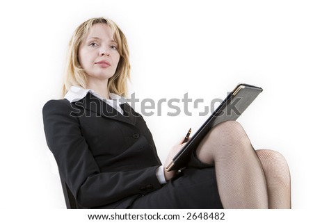 A women with crossed legs