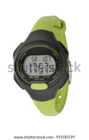 A women wristwatch design in sport style - stock photo