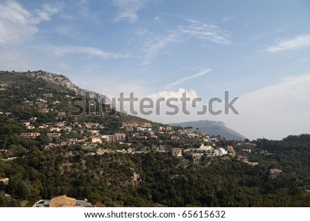 A wonderful mountainside view of Monaco
