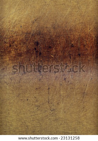 A wood block with a grunge pattern, formerly used as a cutting board, suitable as a background texture. - stock photo