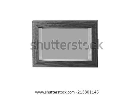 A wood picture frame  black and white photography