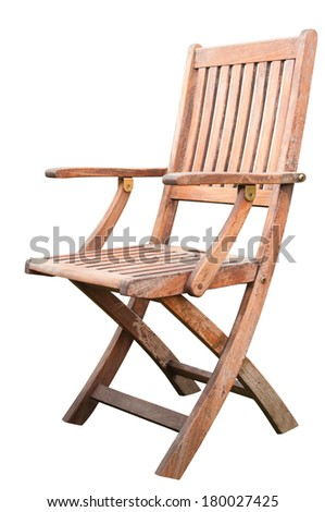 A Wooden Chair Isolated on White