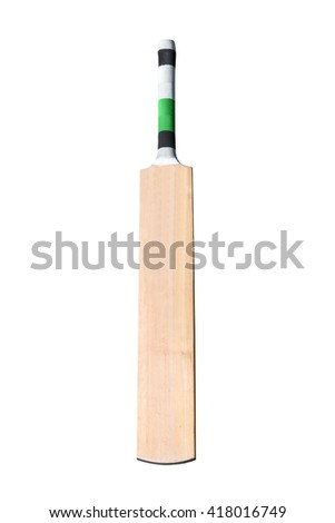A wooden cricket bat isolated on white