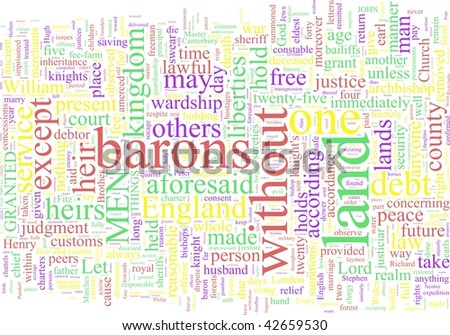 A word cloud based on Magna Carta