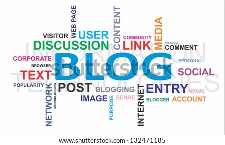 A word cloud of discussion related items - stock photo