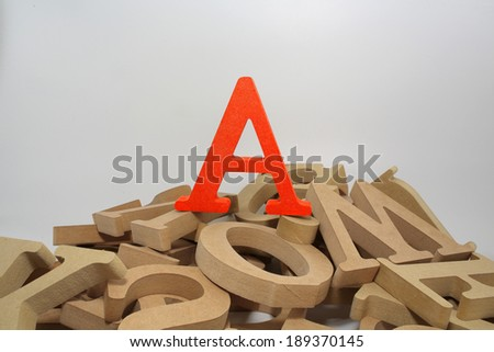 A  word , stand out from other  - stock photo