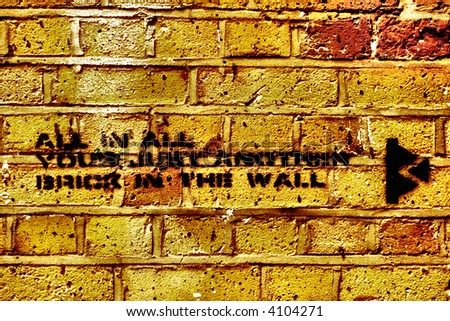 A work of art by the famous UK graffiti artist called Banksy - stock photo