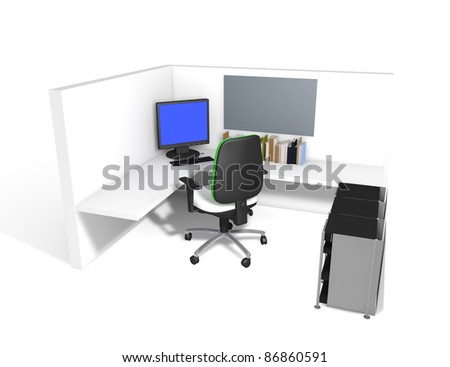 a workplace in large office