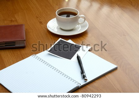 A workplace of a businessman - stock photo