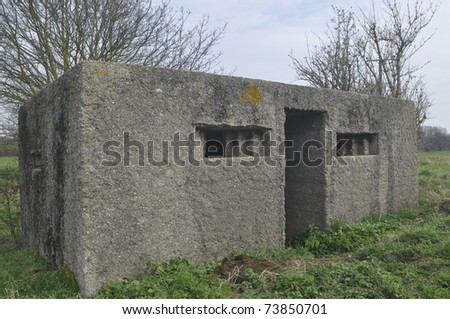 A world war 2 Pillbox - stock photo