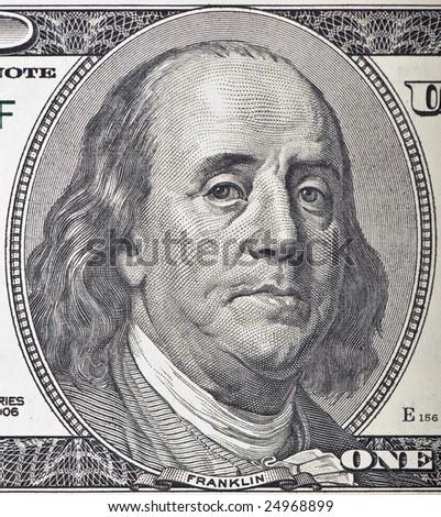 A worried Ben Franklin - stock photo