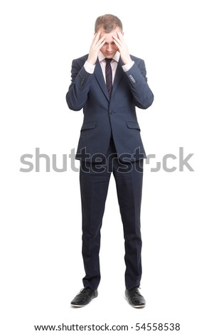 A worried business man - stock photo