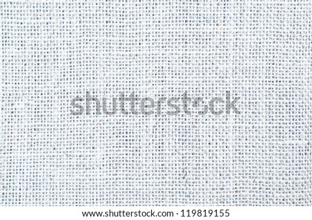A woven hessian texture background in white. - stock photo