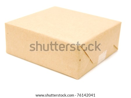 A wrapping brown paper gift