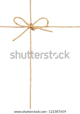A wrapping knot symbolic - stock photo