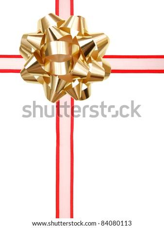 A wrapping ribbon box - stock photo