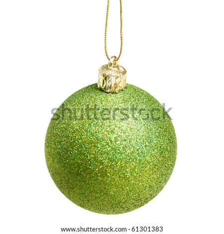 a x-mas ball isolated on white - stock photo