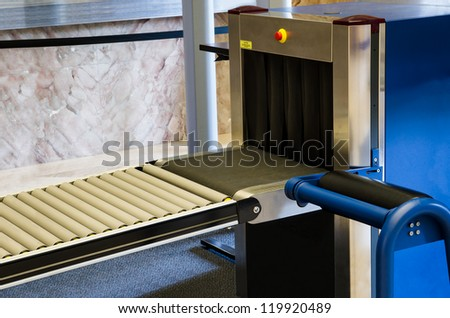 a X Ray blue Security Scanner - stock photo