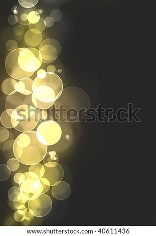 A yellow bokeh burst background - stock photo