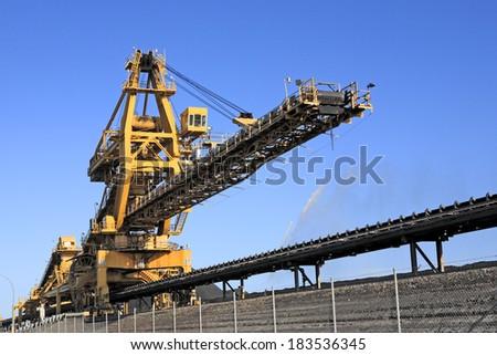 A Yellow Coal Loader - stock photo