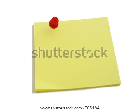a yellow note on a blank background