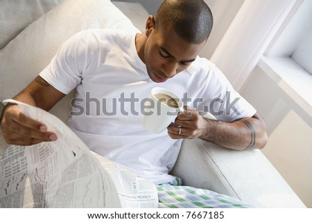 A young african american man - stock photo