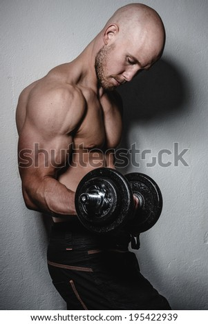 a young and very fit man - stock photo