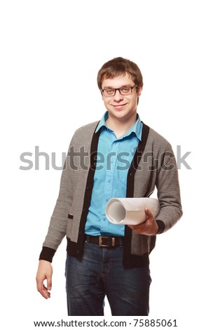 A young architect - stock photo