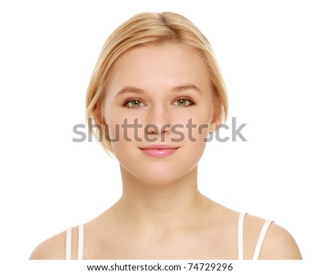 A young beautiful woman - stock photo