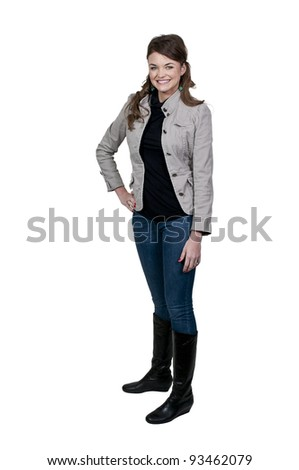 A young Beautiful Woman with a lovely smile - stock photo