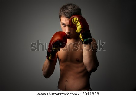 a young boxer