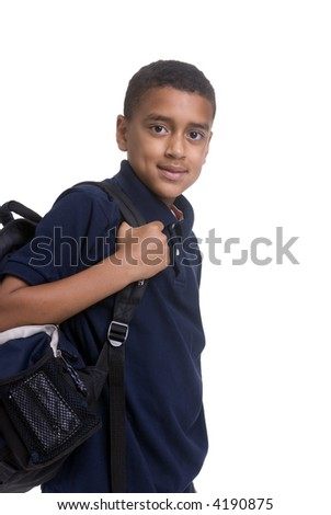 A young boy on a laptop. Education is your future. - stock photo