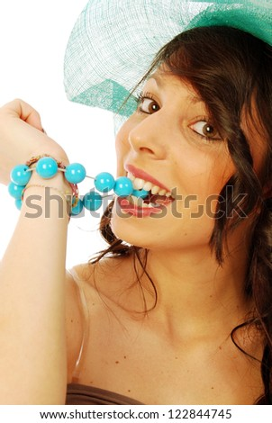 A young brunette all salt and pepper - 102 - stock photo