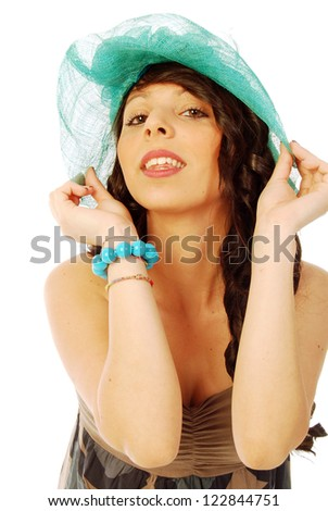 A young brunette all salt and pepper - 089 - stock photo