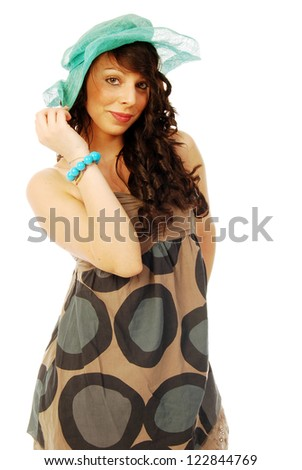 A young brunette all salt and pepper - 100 - stock photo