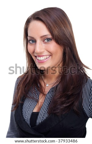 a young business woman - stock photo