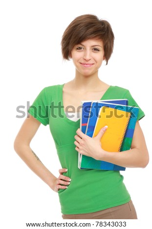 A young college girl - stock photo