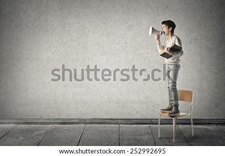 A young communicator  - stock photo