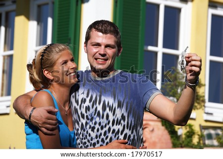 a young couple in love - stock photo