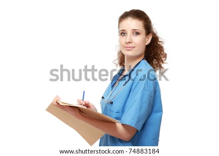 A young female girl - stock photo