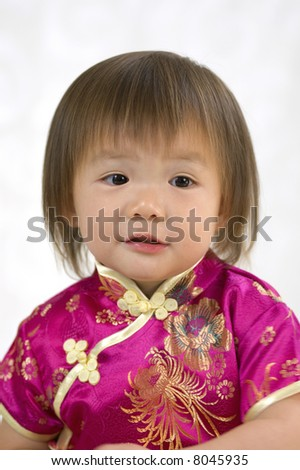 A young girl ....growing up. Childhood, learning, exploration family - stock photo