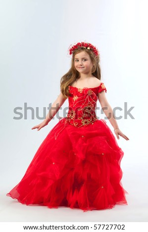 A young girl in costume princess - stock photo
