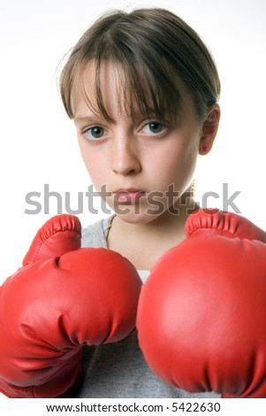 A young girl taking up boxing for self-defence