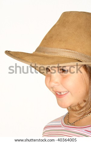 A young girl with hat - stock photo