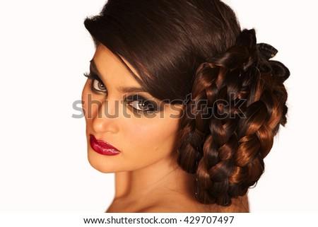 Hot beautiful brunette