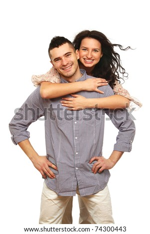 A young loving couple - stock photo