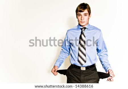 A young male model, photographed in the studio. - stock photo