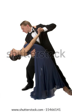 A young modern couple dancing - stock photo